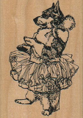 Ballet Dog 2 x 2 3/4-0