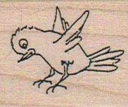 Bird Landing (Large) 1 1/4 x 1 1/4-0