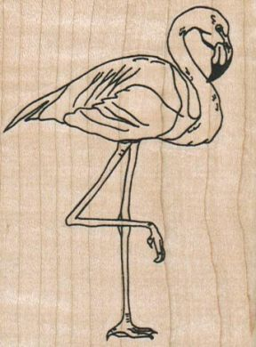 Flamingo On One Leg 2 1/2 x 3 1/4-0