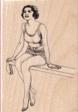 Diving Board Lady 3 x 4-0