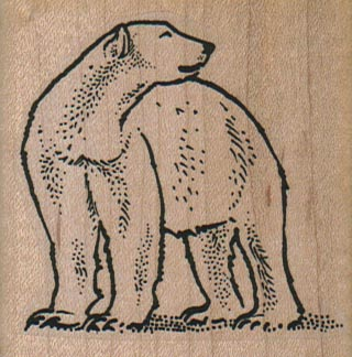 Polar Bear Looking Back 2 1/4 x 2 1/4-0