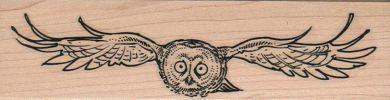 Owl Flying At Ya 1 1/2 x 5 1/2-0