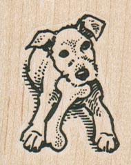 Fox Terrier With Bone 1 1/2 x 1 3/4-0