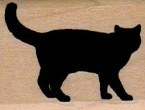 Black Cat Silhouette 1 1/4 x 1 1/2-0