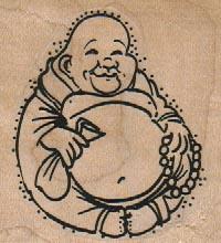 Happy Buddha 2 1/4 x 2 1/4-0