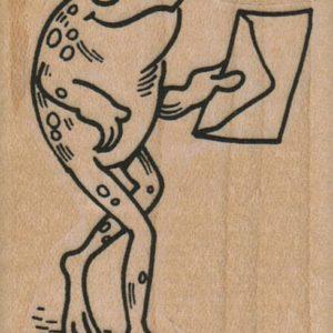 Frog Walking With Envelope 1 3/4 x 2 1/2-0
