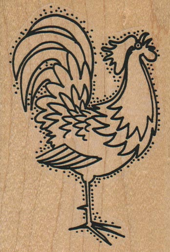 Rooster Crowing 2 1/2 x 3 1/2-0