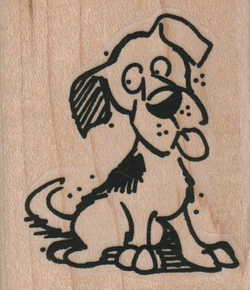 Dog Looking Askance 1 3/4 x 2-0