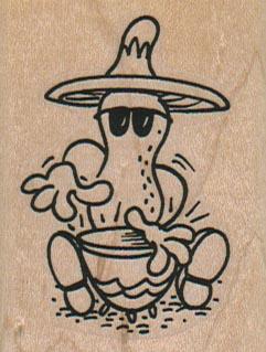 Peanut Banging Drum 1 3/4 x 2 1/4-0