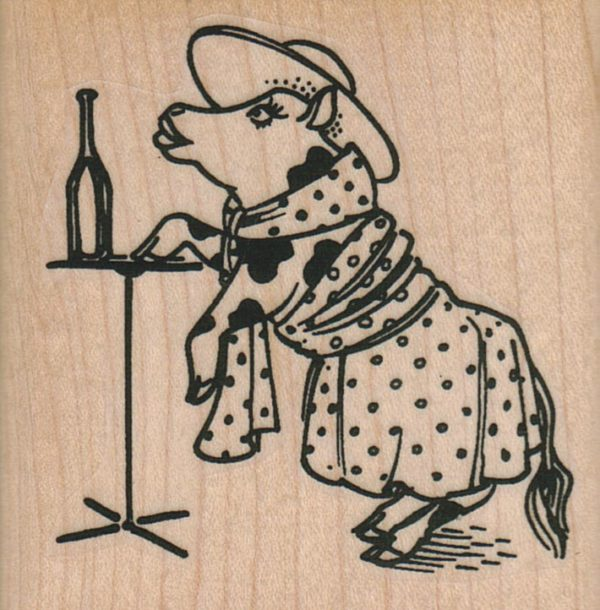 Cocktail Party Cow 2 1/2 x 2 1/2-0