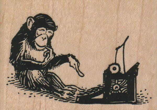 Chimp Typing 2 1/2 x 1 3/4-0