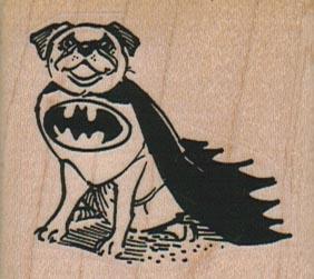 Bat Pug Dog 2 x 1 3/4-0
