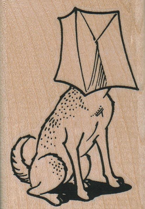 Dog With Bag On Head 1 3/4 x 2 1/2-0
