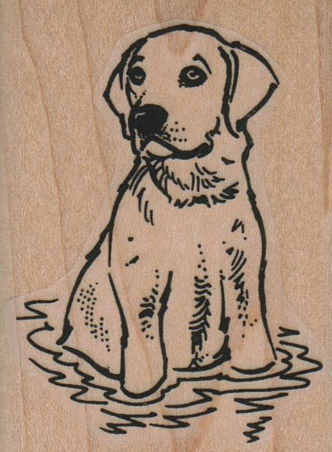 Dog In Water 1 3/4 x 2 1/4-0
