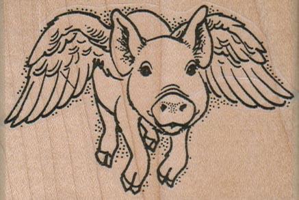 Flying Pig Face 3 x 2-0