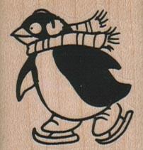 Ice Skating Penguin 1 1/2 x 1 1/2-0
