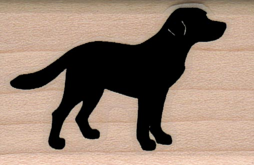 Silhouette Dog Side View 1 1/4 x 1 3/4-0