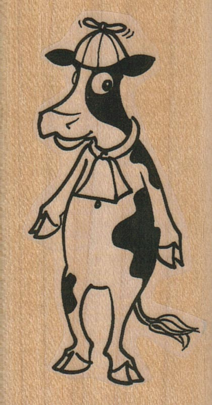 Cow In Beanie 1 1/2 x 2 3/4-0