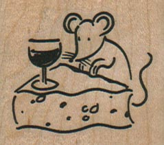 Wine And Cheese Mouse 1 3/4 x 1 1/2-0