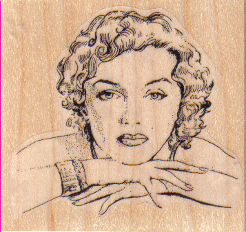 Marilyn Pensive 2 1/2 x 2 1/4-0