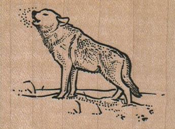 Wolf Baying 2 1/2 x 1 3/4-0