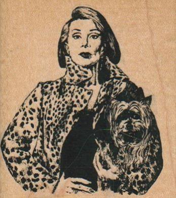 Lady With Dog 2 1/2 x 2 3/4-0
