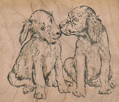 Kissing Dogs 3 1/4 x 2 3/4-0