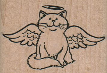 Angel Kitty 2 1/2 x 1 3/4-0