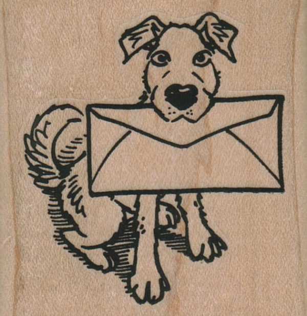 Dog With Envelope 2 1/4 x 2 1/4-0