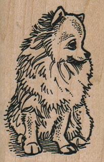 Pomeranian Looking To Side 1 1/2 X 2 1/4-0
