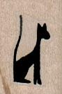 Black Cat Stylized 3/4 x 1-0