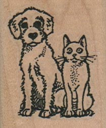 Dog & Cat Buddies 1 1/2 x 1 3/4-0