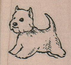 West Highland Terrier 1 3/4 x 1 1/2-0