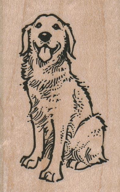 Happy Dog Sitting 1 1/2 x 2 1/4-0