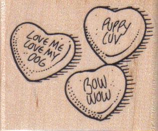 Dog Valentine Candies 2 1/4 x 1 3/4-0
