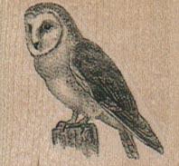 Owl On Stump 1 1/4 x 1 1/2-0