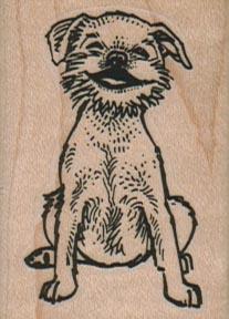 Grinning Dog 1 1/2 x 2-0