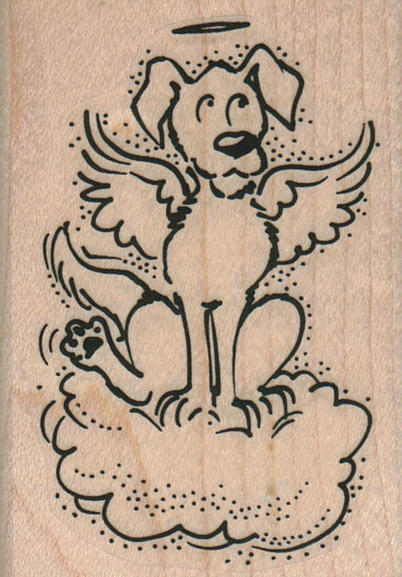 Angel Dog On Cloud 2 x 2 3/4-0