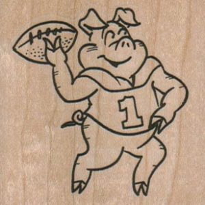 Pig Throwing Pigskin 2 1/4 x 2 1/4-0