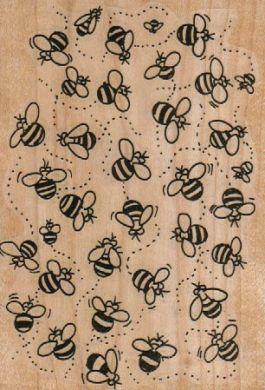 Buzzing Bee Background 3 1/4 x 4 1/2-0