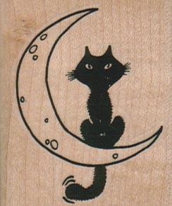 Cat On Moon 1 3/4 x 2-0