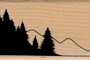 Trees And Mountain 1 1/2 x 2 3/4-0