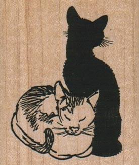 Black & White Cats 1 3/4 x 2 1/4-0