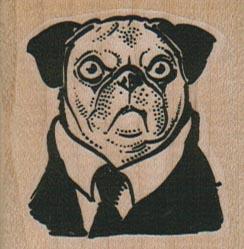 Pug In Black 1 3/4 x 1 3/4-0