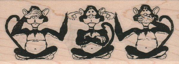Monkey Trio 1 3/4 x 4 1/4-0