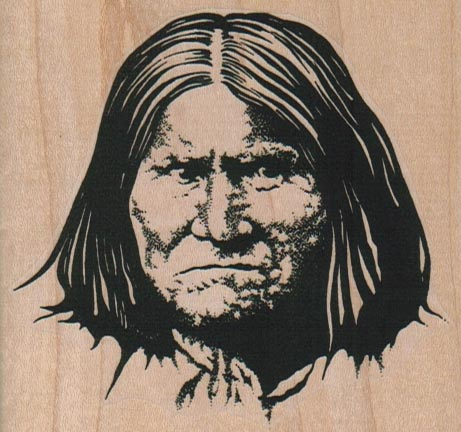 Geronimo Face On/Large 3 1/4 x 3-0
