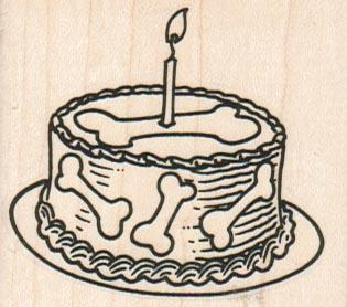 Dog Bone Birthday Cake 2 1/4 x 2-0