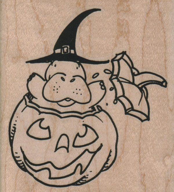 Hippo Jumping Out Of Pumpkin 3 x 3 1/4-0