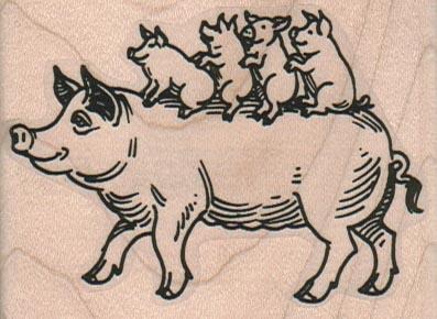 Piggies Riding On Mama 2 3/4 x 2-0