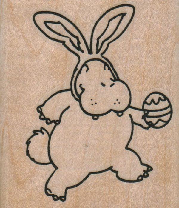 Easter Bunny Hippo 2 1/4 x 2 1/2-0